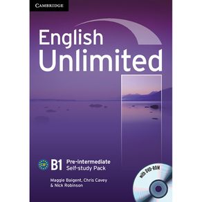 English-Unlimited-Self-Study-Pack--Workbook-with-DVD-ROM--Pre-Intermediate